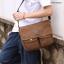 CV09-Brown กระเป๋าสะพายข้าง ผ้าแคนวาส สีน้ำตาล thumbnail 2