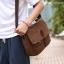 CV09-Brown กระเป๋าสะพายข้าง ผ้าแคนวาส สีน้ำตาล thumbnail 3