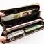 WL02-Brown กระเป๋าสตางค์ใบยาว กระเป๋าสตางค์ผู้ชาย ผ้าแคนวาส สีน้ำตาล thumbnail 5