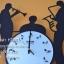นาฬิกาติดผนัง ชุดวงดนตรีคลาสสิค ของตกแต่งบ้านเก๋ๆ thumbnail 2
