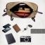 CV02-Khaki กระเป๋าสะพายไหล่ กระเป๋าคาดอก ผ้าแคนวาส สีกากี thumbnail 6