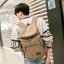 TR04-Khaki กระเป๋าเป้สะพายหลัง ผ้าแคนวาส สีกากี thumbnail 3