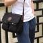 CV09-Black กระเป๋าสะพายข้าง ผ้าแคนวาส สีดำ thumbnail 5