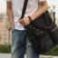 CV18-Black กระเป๋าถือผู้ชาย + สะพายข้าง ผ้าแคนวาส สีดำ thumbnail 9