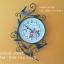 นาฬิกาติดผนังตกแต่งบ้าน Vintage Style รูปช่อดอกไม้ + ผีเสื้อ + นก thumbnail 1