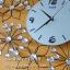 นาฬิกาติดผนังสวยๆเก๋ๆ รูปทรงดอกไม้ประดับพลอย thumbnail 2