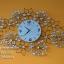 นาฬิกาติดผนังสวยๆเก๋ๆ รูปทรงดอกไม้ประดับพลอย thumbnail 1