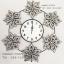 นาฬิกาติดผนังขนาดใหญ่ งานเหล็กดัดสวยๆ ประดับดอกไม้พลอยขาวสวยสว่างเงางาม สวยเด่นไม่เหมือนใคร thumbnail 1