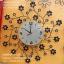นาฬิกาติดผนัง รูปกิ่งไม้ดอกไม้ดำประดับพลอย thumbnail 1