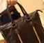 LT41-Brown กระเป๋าถือผู้ชาย + สะพายข้าง หนัง PU สีน้ำตาล thumbnail 6