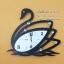 นาฬิกาแขวนตกแต่งบ้านโมเดิร์น รุ่นหงส์ดำ 3471-HT0220 thumbnail 1