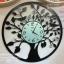 นาฬิกาแต่งบ้านติดผนัง รูปต้นไม้กลม มีนกดำและผีเสื้อขาว thumbnail 1