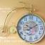 นาฬิกาติดผนังตกแต่งบ้าน Vintage รูปจักรยานสีเหลือง หน้าปัดใหญ่ thumbnail 1