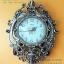 นาฬิกาติดผนังโมเดิร์นทรงโรมัน รูปนกยูงคู่สีทอง ประดับพลอยสี thumbnail 1
