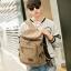 TR04-Khaki กระเป๋าเป้สะพายหลัง ผ้าแคนวาส สีกากี thumbnail 4