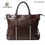 LT41-Brown กระเป๋าถือผู้ชาย + สะพายข้าง หนัง PU สีน้ำตาล thumbnail 2