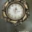 นาฬิกาติดผนังสวยหรู ดีไซน์ริบบิ้นดอกไม้สีทอง DH061-KY thumbnail 1