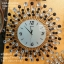 นาฬิกาติดผนัง รูปดอกไม้พลอยพริ้วสีขาวดำสวยๆ thumbnail 1