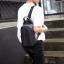 LT08-Blue กระเป๋าสะพายไหล่ กระเป๋าคาดอก หนัง PU สีน้ำเงิน thumbnail 4