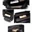 LT29 กระเป๋าสะพายข้าง หนัง PU สีดำ thumbnail 13