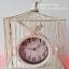 นาฬิกากรงนกตั้งโต๊ะ (แขวนก็ได้) สีขาว สไตล์วินเทจ thumbnail 1