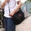 CV09-Black กระเป๋าสะพายข้าง ผ้าแคนวาส สีดำ thumbnail 4