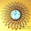 นาฬิกาติดผนังลายสวยๆ รูปทรงดวงตะวันประดับพลอย รหัส HT0011 thumbnail 1