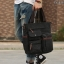 CV18-Black กระเป๋าถือผู้ชาย + สะพายข้าง ผ้าแคนวาส สีดำ thumbnail 3