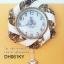 นาฬิกาติดผนังเก๋ๆ รุ่นริบบิ้นสีขาวครีม thumbnail 1