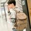TR04-Khaki กระเป๋าเป้สะพายหลัง ผ้าแคนวาส สีกากี thumbnail 5