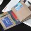 WS07-Black กระเป๋าสตางค์ใบสั้น แนวตั้ง กระเป๋าสตางค์ผู้ชาย หนัง PU เกรดเอ สีดำ thumbnail 3