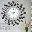 นาฬิกาแขวนผนัง สไตล์ Modern รูปดอกไม้เยอะประดับพลอย thumbnail 1