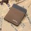 WS02-Brown แนวตั้ง กระเป๋าสตางค์ใบสั้น กระเป๋าสตางค์ผู้ชาย ผ้าแคนวาส สีน้ำตาล thumbnail 1