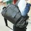 LT23 กระเป๋าสะพายข้าง หนัง PU สีดำ thumbnail 5
