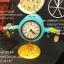 นาฬิกาตั้งโต๊ะเก๋ๆ รูปเครื่องบินโบราณสีฟ้าสองใบพัด thumbnail 2