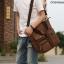 CV18-Brown กระเป๋าถือผู้ชาย + สะพายข้าง ผ้าแคนวาส สีน้ำตาล thumbnail 6