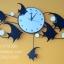 นาฬิกาติดผนังเก๋ๆ รูปปลาเทวดาประดับมุก thumbnail 1