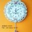 นาฬิกาแขวนผนังสวยเก๋ สไตล์วินเทจทรงจาน ประดับด้วยดอกกุหลาบ thumbnail 1