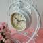 นาฬิกาตั้งโต๊ะวินเทจ สีขาว 2 หน้าปัด สวยๆเก๋ๆ thumbnail 1