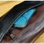 LT39 กระเป๋าสะพายข้าง หนัง Crazy Horse PU สีน้ำตาลดำ thumbnail 9