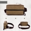 CV02-Khaki กระเป๋าสะพายไหล่ กระเป๋าคาดอก ผ้าแคนวาส สีกากี thumbnail 7