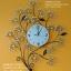 นาฬิกาแขวน Modern รูปช่อดอกไม้ประดับพลอย ใบดำ thumbnail 1
