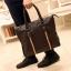 LT41-Brown กระเป๋าถือผู้ชาย + สะพายข้าง หนัง PU สีน้ำตาล thumbnail 7