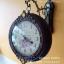 นาฬิกาแขวนติดผนัง 2 หน้า ทำจากไม้จริง ประดับด้วยคริสตัลสวยๆ thumbnail 2