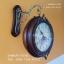 นาฬิกาแขวนติดผนัง 2 หน้า ทำจากไม้จริง ประดับด้วยคริสตัลสวยๆ thumbnail 3