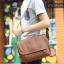 LT11-Brown กระเป๋าสะพายข้าง หนัง PU สีน้ำตาล thumbnail 18