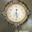 นาฬิกาติดผนัง ตัวเรือนสีน้ำตาลทอง ประดับดอกกุหลาบแต่งลวดลายสวยๆไม่เหมือนใคร thumbnail 1