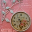 นาฬิกาติดผนังวินเทจ สีขาว รูปนกเกาะกิ่งไม้ thumbnail 1