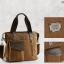 CV19-Brown กระเป๋าถือผู้ชาย + สะพายข้าง MO&Y ผ้าแคนวาส สีน้ำตาล thumbnail 7