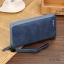 WL07-Blue กระเป๋าสตางค์ใบยาว กระเป๋าสตางค์ผู้ชาย หนัง PU สีน้ำเงิน thumbnail 6